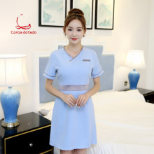 New beautician work clothes dress beauty salon front desk overalls professional suit female summer technician clothing