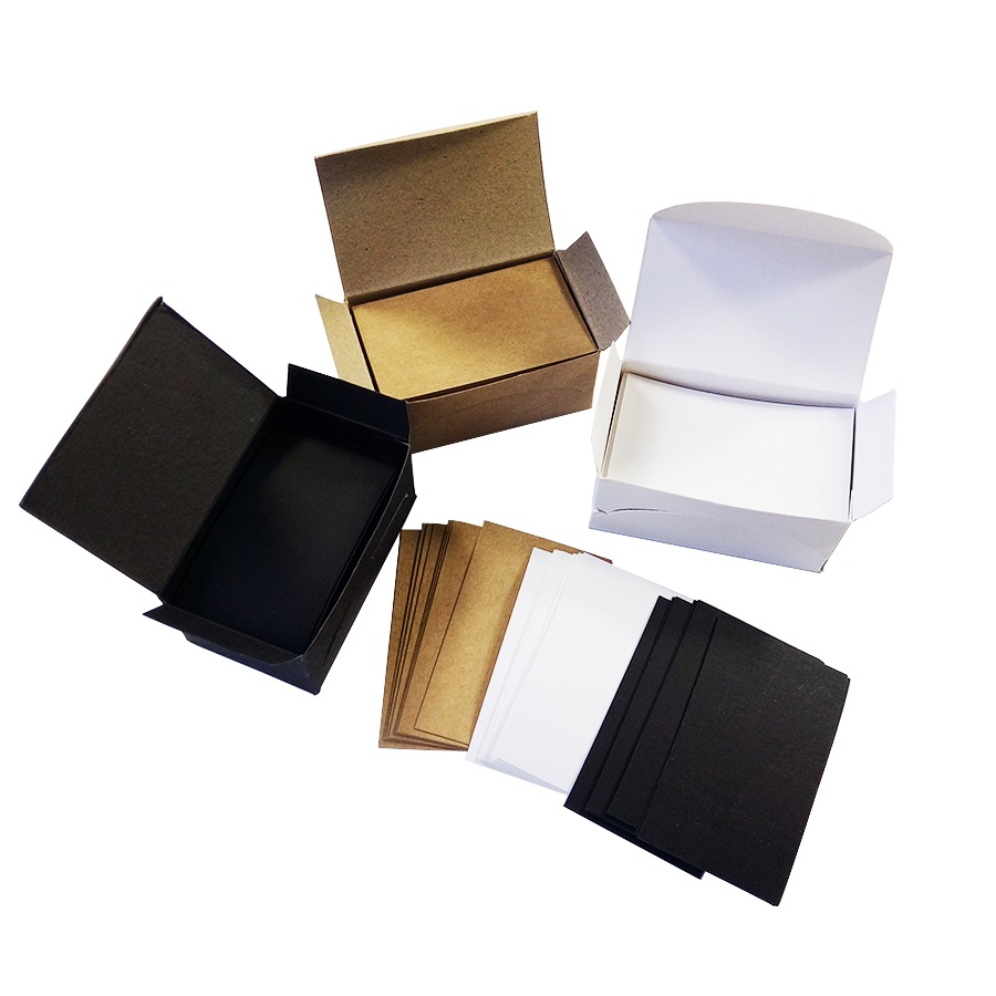100 Pcs/lot White Black Kraft Paper Card blank business cards Message Memo Party Gift Thank You Cards Label BookmarkName Card
