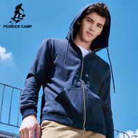 Pioneer Camp New Autumn Hoodies Men Brand Clothing Casual Solid Hooded Sweatshirt Male Top Quality Black