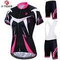 Женская велосипедная майка X-Tiger, комплект летней одежды для велоспорта с защитой от ультрафиолета, быстросохнущая одежда для горного велос...