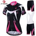 X-Tiger Женский комплект Джерси для велоспорта, летняя одежда для велоспорта с защитой от ультрафиолета, быстросохнущая одежда для горного вел...