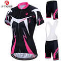 X-Tiger Women's Cycling Jersey Set Summer Anti-UV Cycling Bicycle Clothing Quick-Dry Mountain Bike Clothes Cycling Set