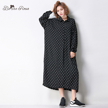Women's Polka Dot Style Long Blouse Large Size Women Fashion Autumn Black Blouses for Women