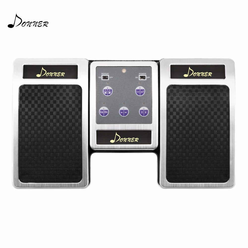 Donner Wireless Page Turner Pedal Electronic Sheet Music Media Controller Page Flipping Reading Aid Pedal For PC Ipad Android