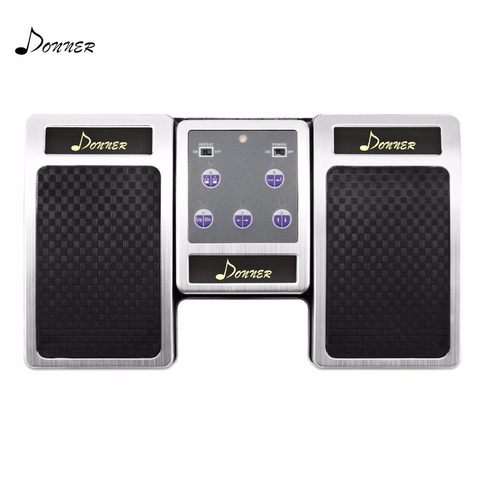 Donner Wireless Page Turner Pedale Elettronico Copriletto Music Media Controller Pagina Flipping Aiuti Di Lettura Pedale Per PC Ipad Android