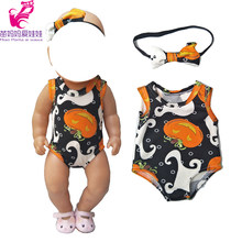 For Doll pajama sets baby Doll Clothes reindeer Short Rompers Doll Halloween wear Toys Outfit(China)