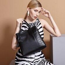 ZOOLER bolsos de las mujeres famosas marcas Elegante bolsa feminina capacidad OL elegante bolso de cuero genuino bolso de La Vendimia #926