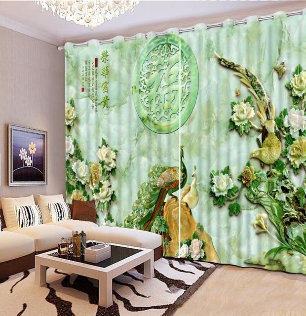 Modernen Chinesischen Vorhänge Für Schlafzimmer wohnzimmer 2 stück ...