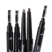 2016 New Waterproof 5 Colors Eye Brow Eyeliner Eyebrow Pen Pencil With Brush Makeup Cosmetic Tool NA985