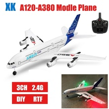 купить 3Ch DIY RC Foam Plane A380 Airplane  2.4G  Fixed Wing RC Airplane Outdoor Toys remote control flying model for kids дешево