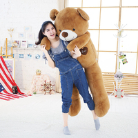Soft Big Teddy Bear Stuffed Animal Plush Toy With Ribbon 80cm100cm Kawaii Large Bears For Kids Giant Pillow Doll Girlfriend Gift