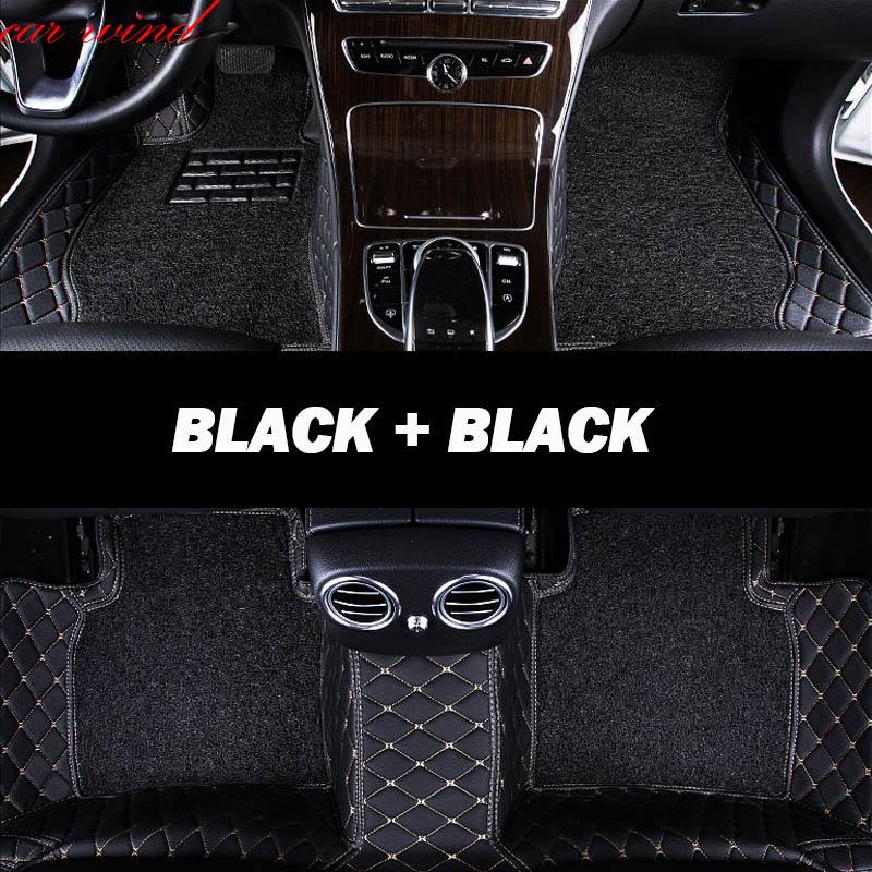 Car Wind Leather Auto car floor Foot mat For Mitsubishi pajero sport 4 grandis lancer outlander xl 2017 2013 car accessories