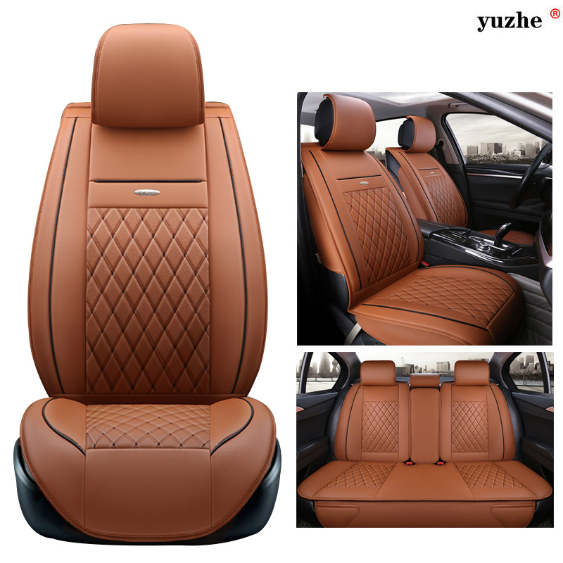 Yuzhe leather car seat cover For Volvo XC60 XC90 S60L S90 V40 V60 S60 V70 S40 ar accessories styling cushion 3d styling car seat cover for volvo c30 s40 s60l v40 v60 xc60 xc90 high fiber leather