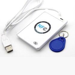 NFC ACR122U RFID smart card Reader Writer Copier Duplicator beschrijfbare kloon software USB IC 13.56 mhz ISO 14443 + 5 pcs UID TagNFC EEN