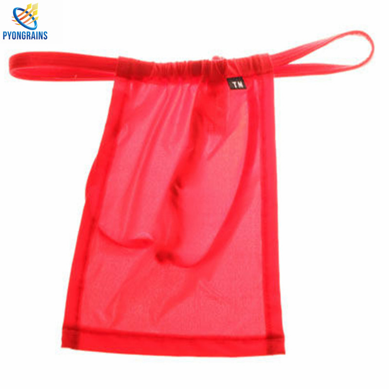2016 Män Underkläder Nylon Herr Sexiga G-Strängar Thongs Gay Underkläder Shorts Partihandel Herr Jockstrap Sexiga Män Underkläder Fig leaf