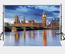 7x5ft London Big Ben Backdrop European Buildings British Dusk View Photography Background