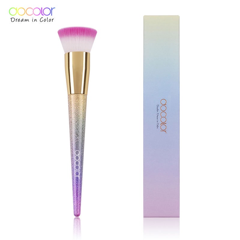 Docolor 1PCS Foundation Brush Flat the Portable BB Cream Makeup Brush Top Base Liquid Cosmetic Brush Professional Beauty Tools