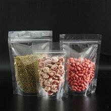 купить Wholesale Transparent Clear Food Storage Zip Lock Plastic Bag Stand Up Resealable Ziplock Plastic Food Bag for Bulk Food Packing онлайн