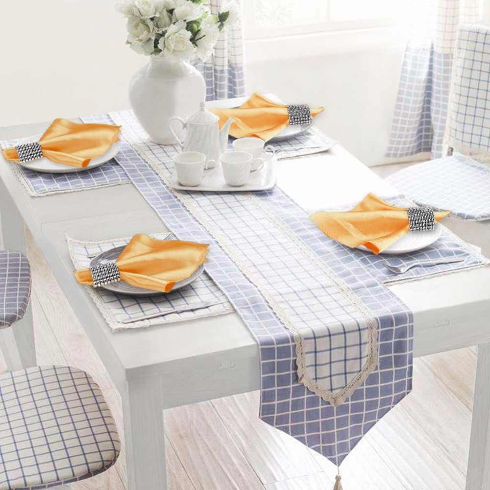OurWarm 10 Uds servilletas de boda 30cmX30cm pañuelo de raso servilletas de mesa de tela Decoración de mesa de boda Textiles para el hogar