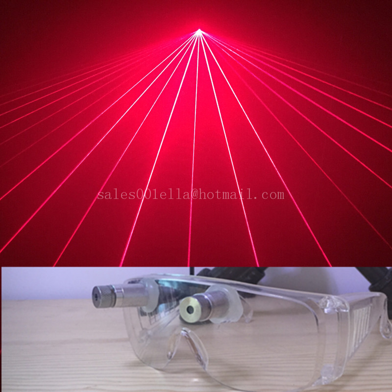 Hot Sale Red Laser Glasses With 2 Pcs Lasers For Christmas Laserman Stage Show Dance Eyewear Party Supplies