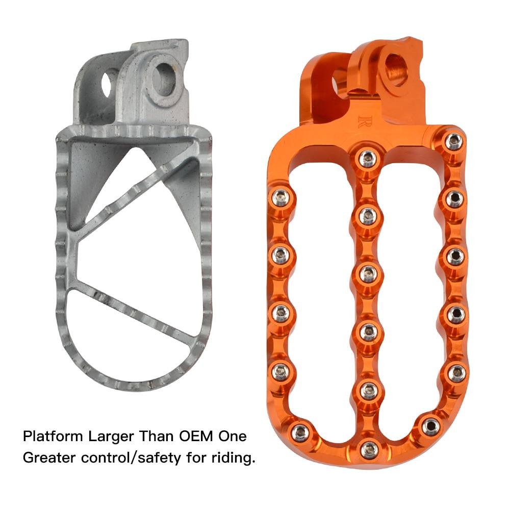 Enlarged Foot Rest Pegs Extended Footrest Footpegs For KTM 1090 1190 990 950 790 Adventure SMT