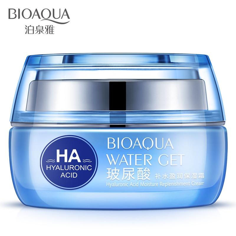 BIOAQUA 50ml Hyaluronic Acid Day Cream Moisturizers Replenishment Cream Whitening skin anti aging anti wrinkles Face care