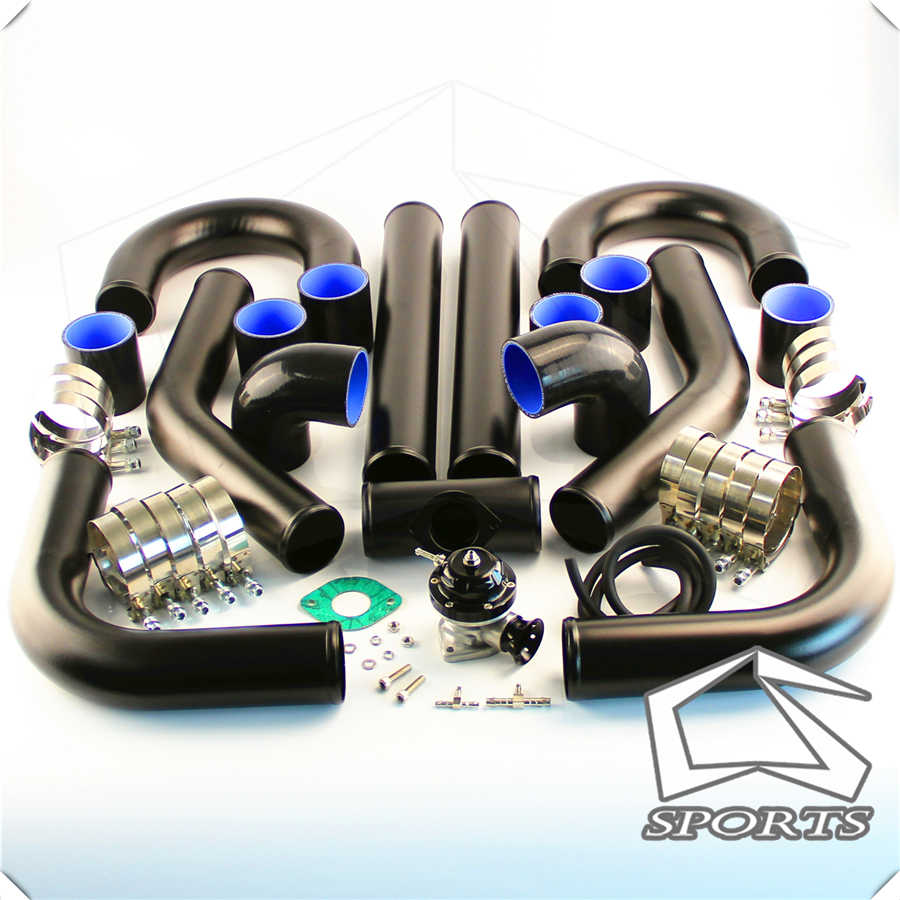 WATERWICH Universal 3 Inch Turbo Intercooler Piping U-Pipe Kit with Clamp /& Coupler