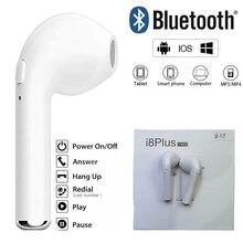 Pcs DHL Livre i8Plus 50 Fone de Ouvido intra-auricular com caixa de Carga Sem Fio Handsfree Mic Para smartphone Bluetooth ios Android