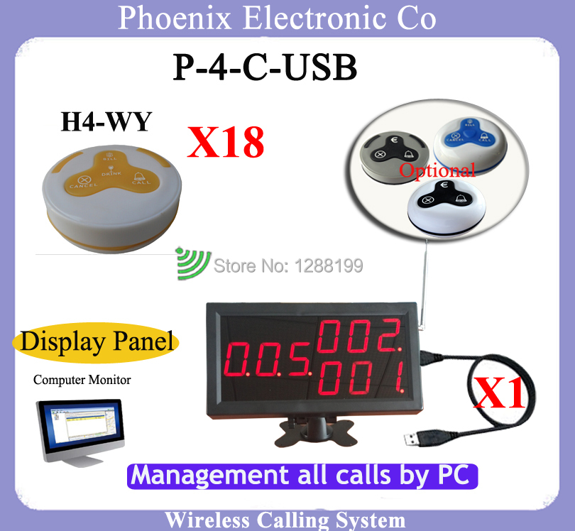 Wireless Restaurant Paging System With Waiter Call Button And Restaurant Pagers,1pcs Display Panel and 12pcs of Wireless Bells