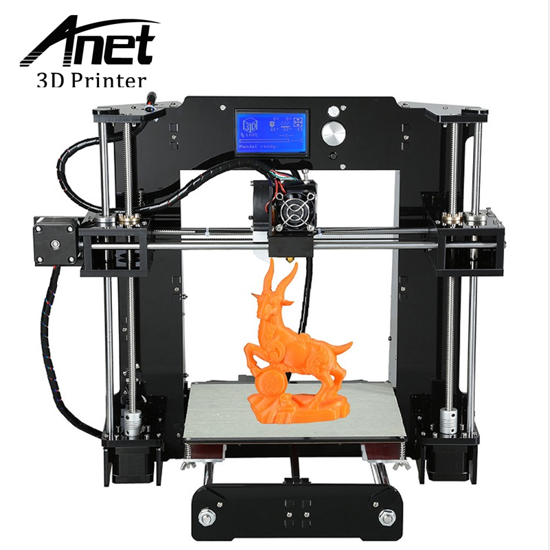 ANET Upgraded A6 3D Printer High-precision Prusa i3 3D printer Easy Assembly Filament Kit 16GB SD Card High quality LCD screen vitesse vs 2047 prima