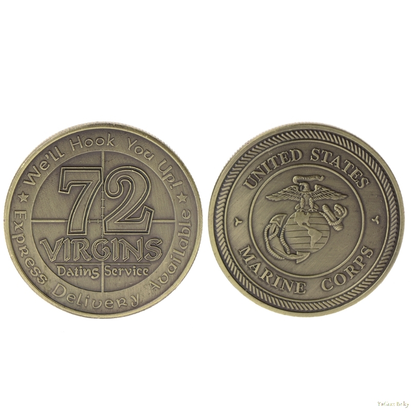 2018 Meaningful Commemorative Coin American 72 Virgins Marine Corps Collection Art Gift Souvenir Noncurrent Coin