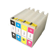 T7551 T7552 T7553 T7554 Refillable Ink Cartridge For Epson Workforce WF-8010DW WF-8090DW WF-8510DW WF-8590DW For Epson T7561-4