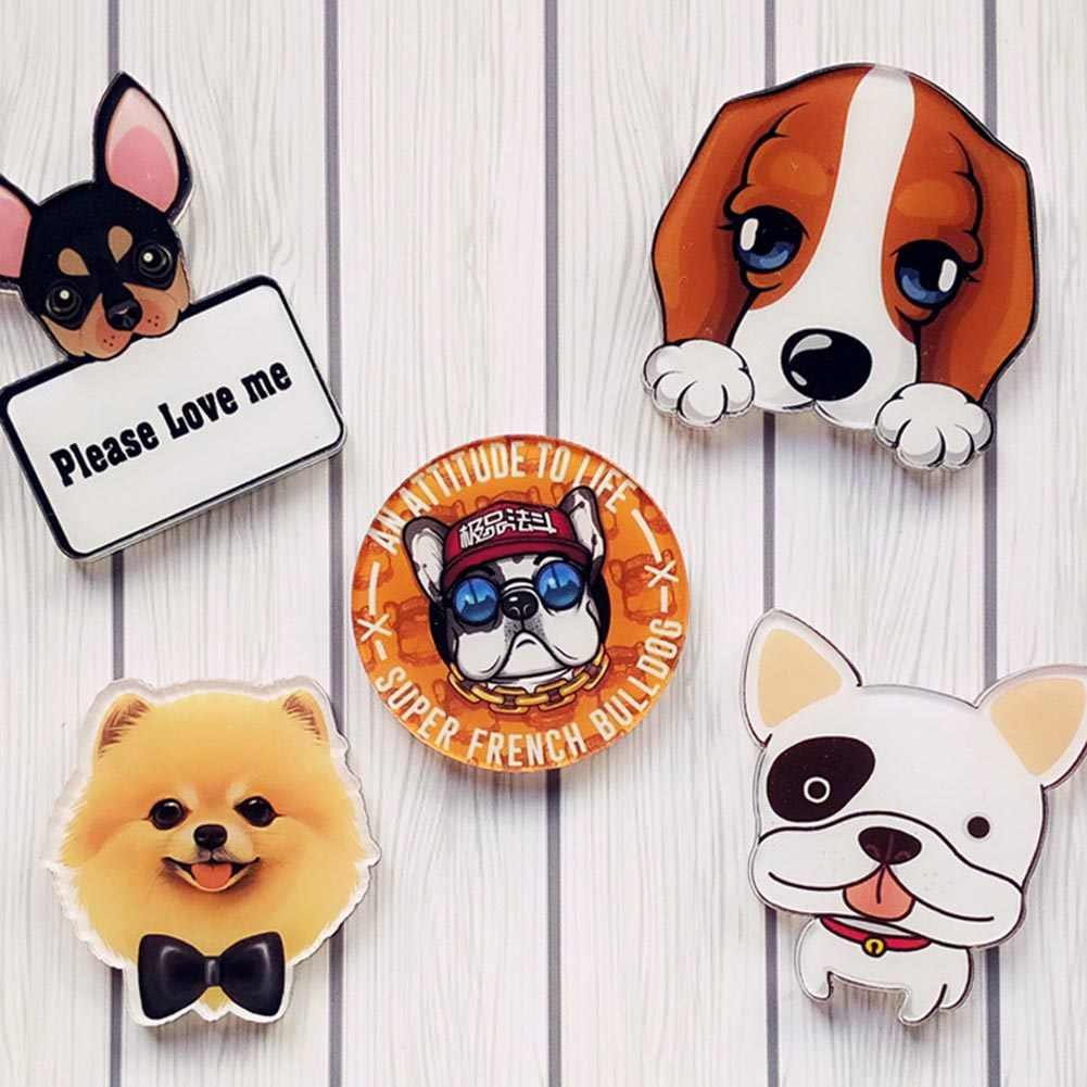 charm Pet Dogs Pendant Badge Decorated Pins Cartoon Cute Brooch phone shell paste dual-use  Deserve To Act Role Of Gift