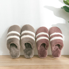 купить Non-slip Faux Fur Winter Women Slippers Home Female Comfort Floor Women Shoes Cotton Ladies Indoor Slippers Plush Slipper Unisex по цене 390.14 рублей