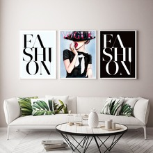 Modern Wall Art Fashion Women Canvas Paintings Vogues Girl A4 Posters and Print Pictures For Living Room Nordic Home Decor
