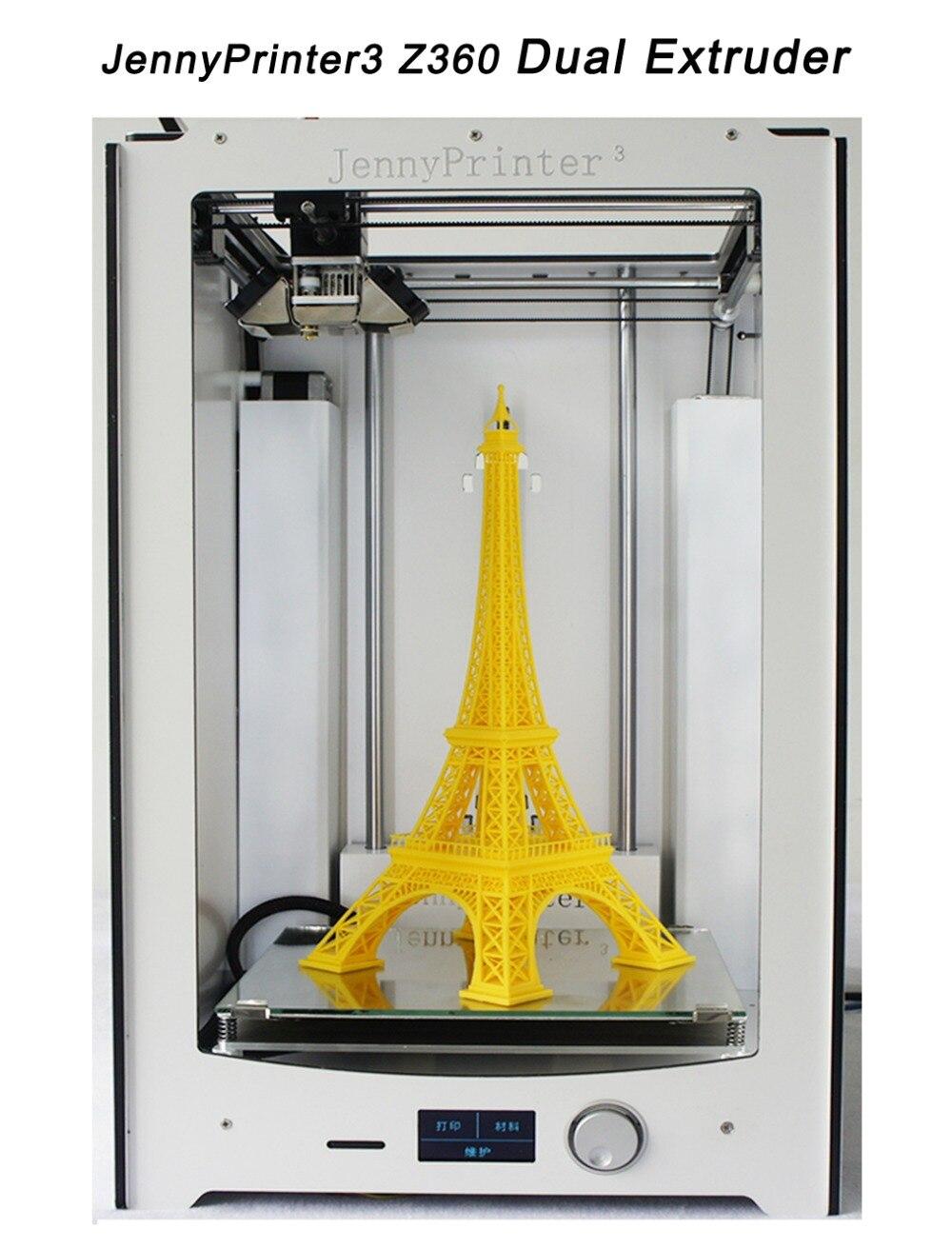 ¡El más nuevo! JennyPrinter3 Z360 extrusora de doble boquilla KIT de bricolaje para UM2 Ultimaker 2 + se nivelación automática 3D impresora incluyen todas las partes