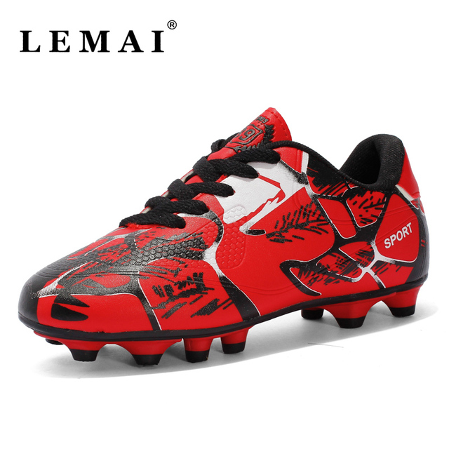 Men New Soccer Shoes AG Outdoor Women Trainer Ankle Football Boots Cleats  Breathable Sneakers Futsal Shoes 63346efc53