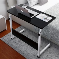 250313 Lazy Simple Desk Removable Bed Computer Desk Multi Functional Design Lift Folding Table Paint Steel