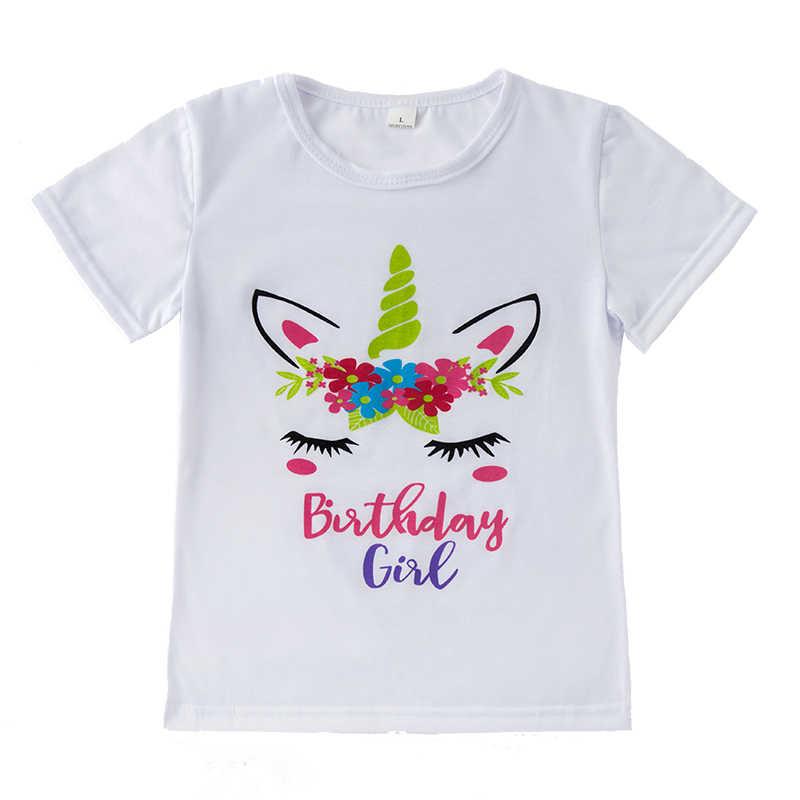 Ropa de niña de verano unicornio camiseta Arco Iris tutú falda 2 uds conjuntos trajes de primer cumpleaños fiesta baile Pettiskirt