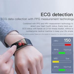 Image 3 - VTIN DT58 смарт браслет ЭКГ PPG спортивные Смарт часы IP68 Водонепроницаемые пульсометр кровяное давление часы спортивный браслет