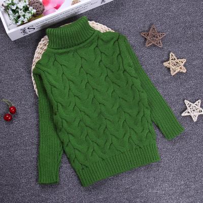 Big Size 2-10 T Pullover Camisola de Outono Inverno Da Menina do Menino Criança Camisola de Malha Camisola de Gola Alta Crianças Outerwear KC-1547-7