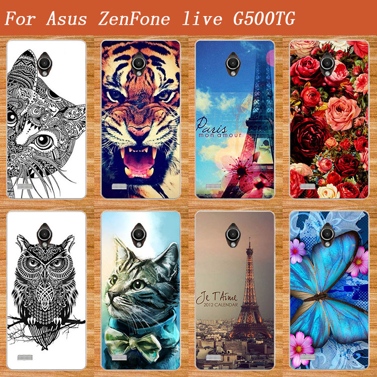 Fashion Soft TPU Case For <font><b>ASUS</b></font> Zenfone <font><b>LIVE</b></font> <font><b>G500TG</b></font> Cover Butterfly 3D Design Animals Painted Case For <font><b>Asus</b></font> <font><b>Live</b></font> <font><b>g500tg</b></font> tpu Cover image
