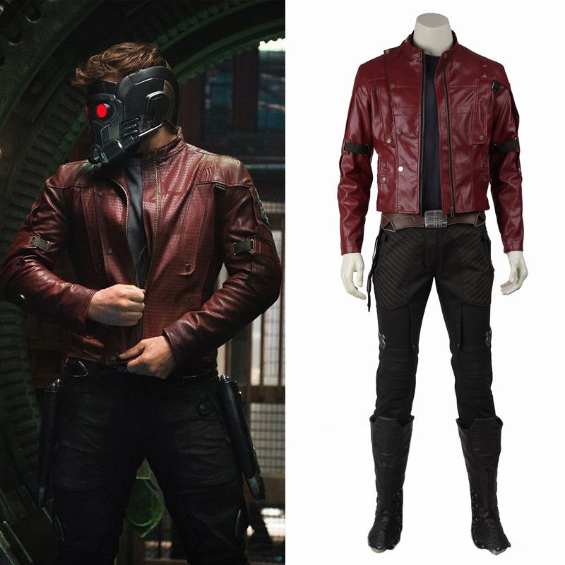 Peter Quill Star Lord Cosplay Jacket Guardians Of The Galaxy Costume Halloween Adult Men Leather Coat Outfit Suit Custom Made