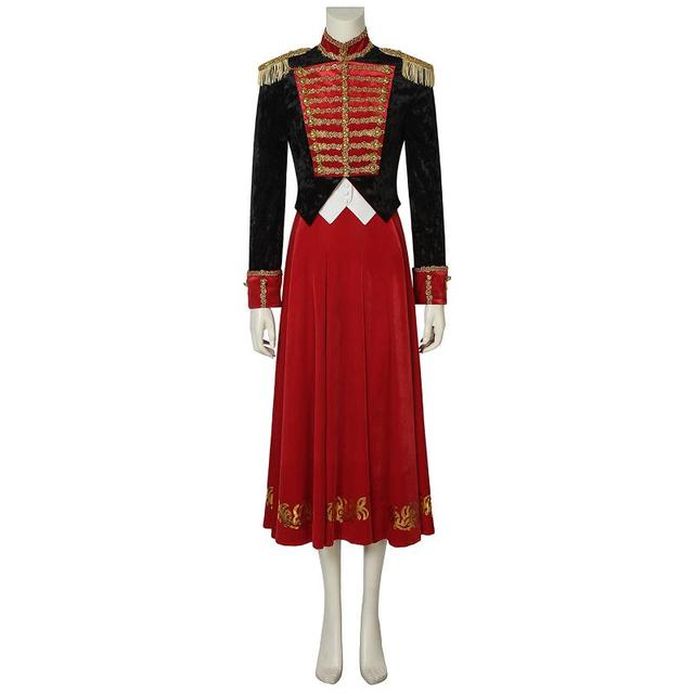 Movie The Nutcracker and the Four Realms Cosplay Clara Costume Uniform Dress  Adult Women Outfit Halloween Carnival Custom Made 751b852e31a3