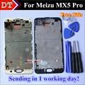 """Alta qualidade new display lcd + assembléia tela de toque digitador para meizu mx5 pro meizu pro 5 celular 1920*1080 5.7 """"com Quadro"""