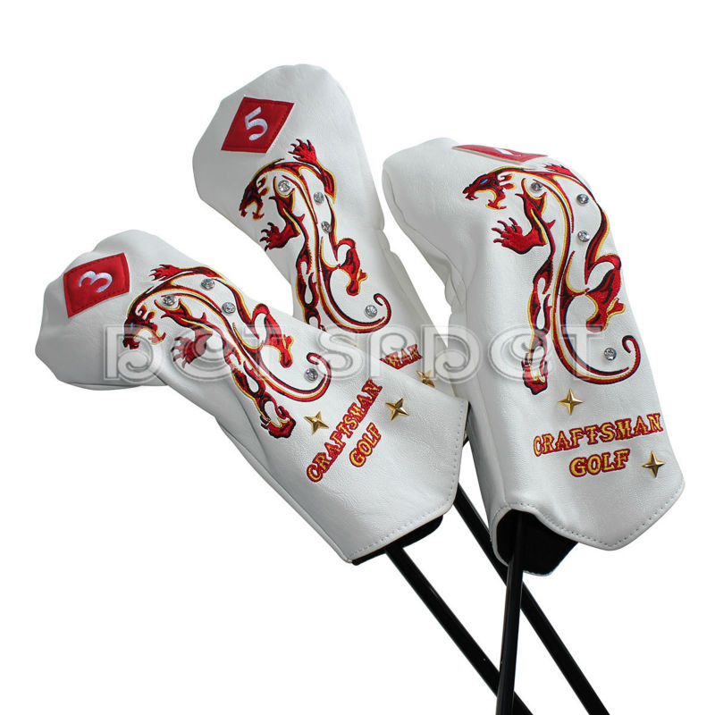 New Arrival Free Shipping Craftsman Embroidery Tiger PU Leather Golf Club  Headcovers Wood Head Covers for #1# 3#5-in Club Shafts from Sports &  Entertainment ...