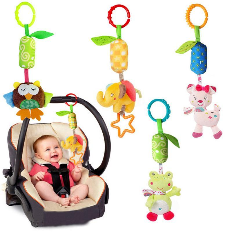 YOOAP Early Educational Toys Baby Stroller Pendant Bed Hanging Around The Rattles Newborn 0-1 Years Old Plush