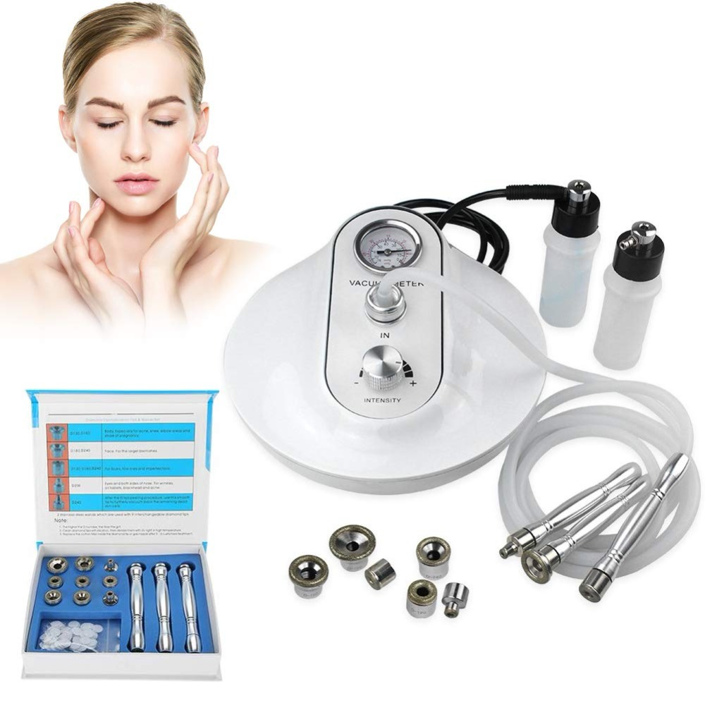 3 IN 1 Diamond Microdermabrasion Dermabrasion Machine Skin Rejuvenation Anti-Wrinkle Freckle Removal Exfoliator Beauty Machine