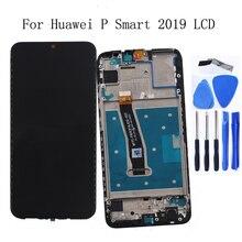 6.21 אינץ תצוגה מקורית עבור Huawei P חכם 2019 LCD תצוגת מסך מגע Digitizer עצרת זכוכית פנל digitizer תיקון ערכת