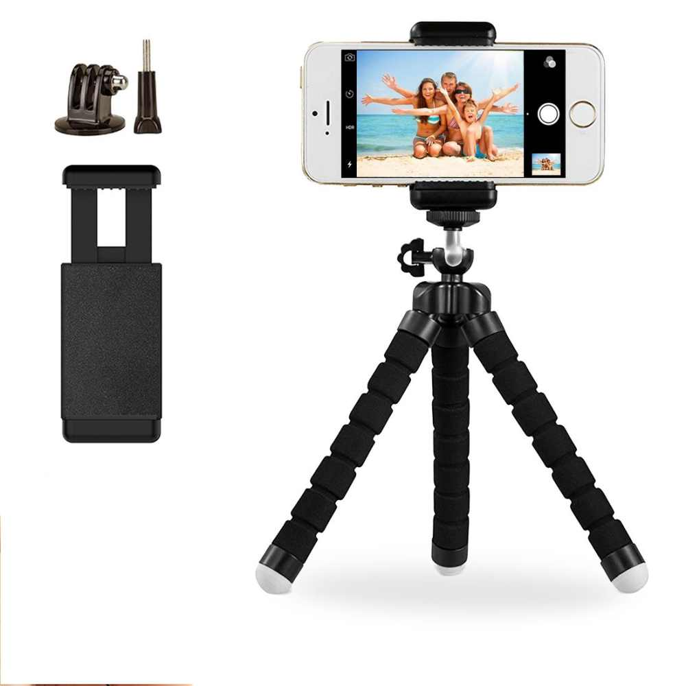 for GoPro Accessories Flexible Mini Octopus <font><b>Tripod</b></font> <font><b>phone</b></font> Bracket Stand Mount Monopo With Screw For GoPro Hero 5 4 3+2 Xiaomi Yi